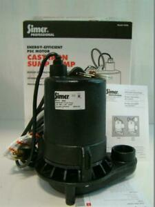 Simer Submersible Sump Pump 115v 5 9a 1 2hp Commerical Duty Cast Iron 5950