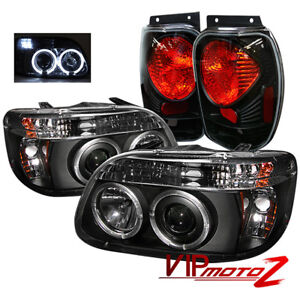 Ford Explorer 98 01 Black 1pc Halo Projector Headlights Altezza Tail Brake Lamps
