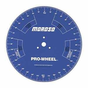 Moroso 62191 Professional Series 18 Universal Camshaft Cam Degree Wheel To