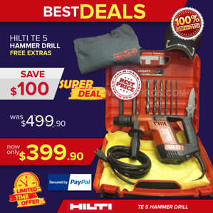 Hilti Te 5 Hammer Drill Preowned Free Bits And Extras Fast Ship