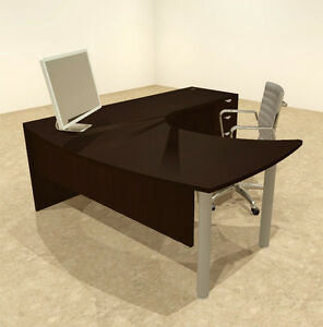 3pc L Shaped Modern Contemporary Executive Office Desk Set of con l15