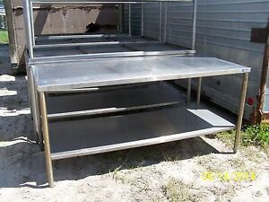 6 Stainless Steel Tables