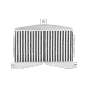 Cxracing 2 in 1 out Twin Turbo Bar Plate Intercooler 3 5 Core Dual 2 5 Inlet