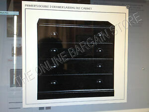 Pottery Barn Printers Double File Cabinet Drawer Build Your Own Unit Black W Top