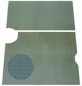 64 66 Gto Lemans Aqua Houndstooth Spare Tire Luggage Compartment Trunk Mat 2pc