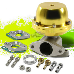 Turbo Turbocharger Manifold Gold 38mm External Waste Gate 8 Psi Spring Flange