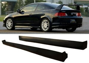 2002 2004 Rsx Type R Style Side Skirts Skirt Black Abs Right And Left
