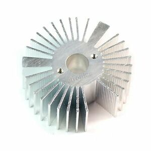5pcs 53x21mm Round Sunflower Aluminum Alloy Heat Sink For 1w 5w Led Silver White