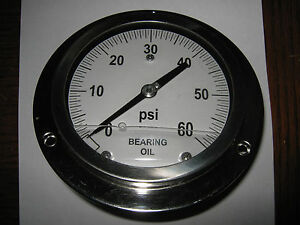 Oil Filled Pressure Gauge 5 Face 0 60 Psi 0 5 Lb Increments Used