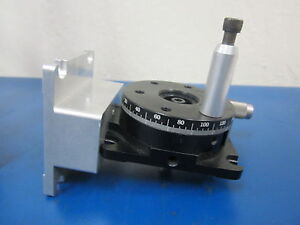 Newport Rotation Stage Model 481 a Assembly With Mount Plate And Sm13 Micrometer