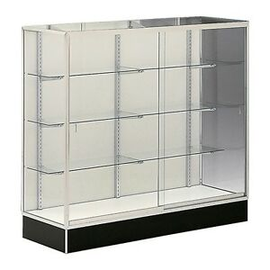 Wall Trophy Aisle Display Showcase 48 Mirror Back Retail Fixture Assembled New