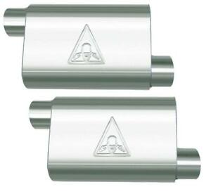 Two Colt High Flow Mustang Performance 3 Single Chamber Universal Mufflers
