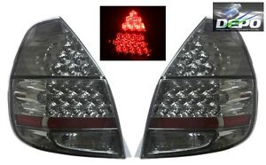Fits 2007 2008 Honda Fit Jazz Gd3 Full Led All Smoked Tail Lights Depo
