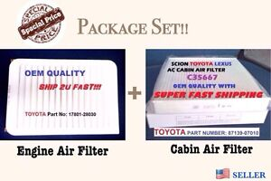 Engine cabin Air Filter For 07 17 Camry And Venza 4 Cylinder Fast Ship