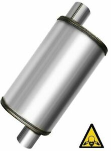 Performance Max Flow Ss Universal Muffler 2 Single Inlet 2 Single Outlet