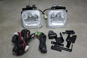 96 98 Honda Civic Ek 2 3 4 Dr Jdm Clear Fog Light Kit Glass Harness Switch