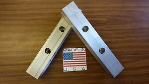 12 X 2 X 2 Vise Jaw Pair reversible Aluminum For Kurt And Most Others usa