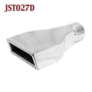 Jst027d 2 5 Stainless Rectangle Camaro Exhaust Tip 2 1 2 Inlet 6 Wide 9 Long