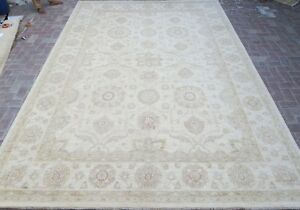 10 X 14 Chobi Peshawar Persian Design Washed Out 10x14 Rugs Ivory Beige