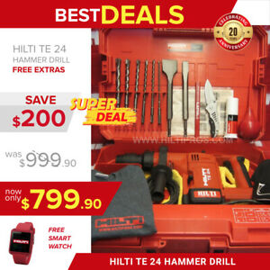 Hilti Te 24 Sds Plus Preowned L k Free Smart Watch Bits Chisel Fast Ship