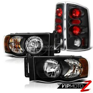 2002 2005 Dodge Ram 1500 2500 3500 harley Style Black Headlights Tail Lights