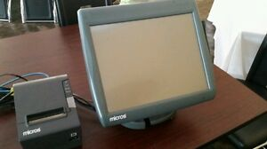 Micros Workstation 5a W Base Stand Thermal Printer