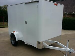 De6 Lite Enclosed Mobile Carwash detail pressure Wash Trailer New W Warrantee