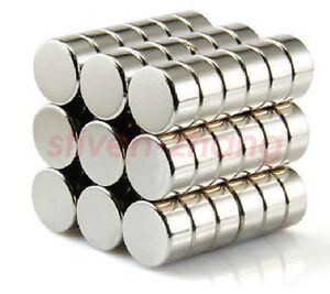 100pcs Neo Neodymium Disc 10mm X 5mm Rare Earth N35 Strong Magnets Craft Models