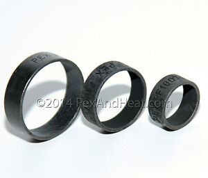 100 1 Pex Copper Crimping Rings Black High Quality