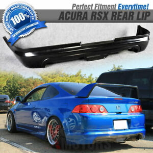 Fits 05 06 Acura Rsx Mugen Style Black Poly Urethane Pu Rear Bumper Lip Spoiler