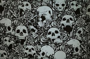 Skulls And Roses Hydrographic Film