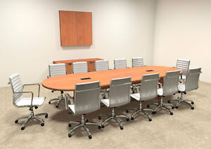Modern Racetrack 12 Feet Conference Table of con c6