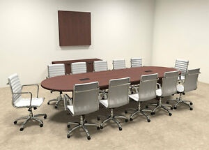 Modern Racetrack 12 Feet Conference Table of con c7