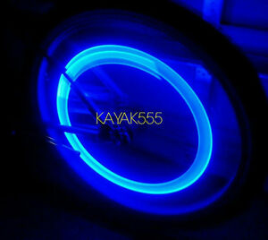 4 X Blue Led Valve Stem Rim Tire Lights Accessories 4 Your Car Pimp Ur Ride Hot
