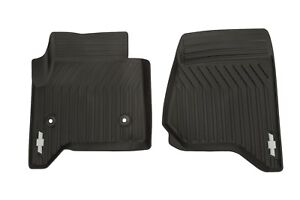 23452760 All Weather Black Front Floor Mats Fits 2015 2018 Tahoe Or Suburban Oem