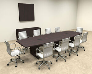 Modern Boat Shapedd 12 Feet Conference Table of con c63