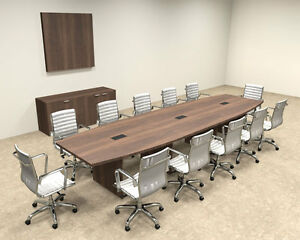 Modern Boat Shapedd 14 Feet Conference Table of con c69
