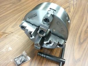 8 4 jaw Self centering Lathe Chuck Top bottom Jaws 0 003 Tir 0804f0 sf new