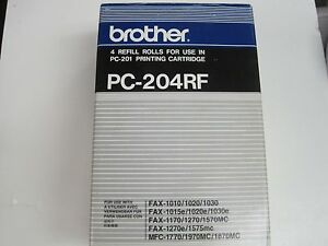 Genuine Brother Pc 204rf Thermal Transfer Refill Rolls For Pc 201 4 Packs