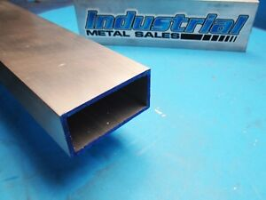 1 1 2 X 3 X 60 long X 1 8 Wall 6063 T52 Aluminum Rectangle Tube