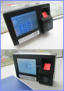 Touch Screen Biometric Fingerprint Access Control time Attendance System