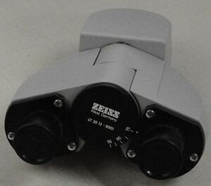 Zeiss Bino tube Head Without Eyepieces used