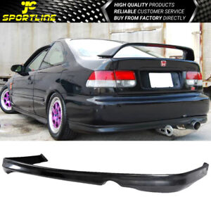Fits 1999 2000 Honda Civic Coupe Sedan T R Style Black Rear Bumper Lip