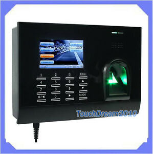 Spanish Biometric Fingerprint Time Attendance With Tcp ip 3 Color Screen