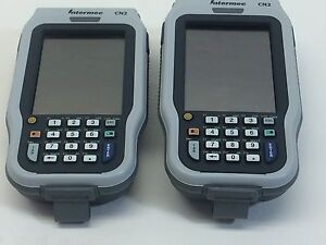 Lot Of 2 Intermec Cn2a21e10n2804 Barcode Scanners Used Tested Working