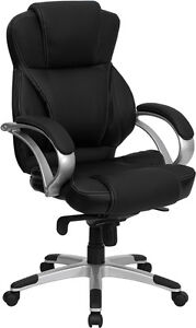 Flash Furniture High Back Black Leather Contemporary Executive Swivel Office