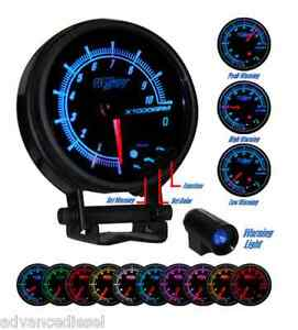 Glowshift Elite Ten Color In Dash Tachometer Gauge Gs Et16