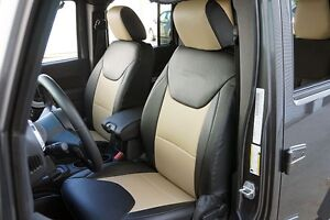 Jeep Wrangler 2013 2014 Leather Like Custom Seat Cover 13 Colors Available