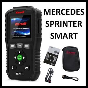 Mercedes Benz Diagnostic Scanner Tool Reader Reset Check Engine Abs Srs Light