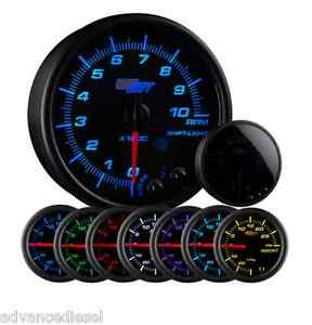 Glowshift Tinted 7 Color 3 3 4 In Dash Tachometer Gauge Gs T716